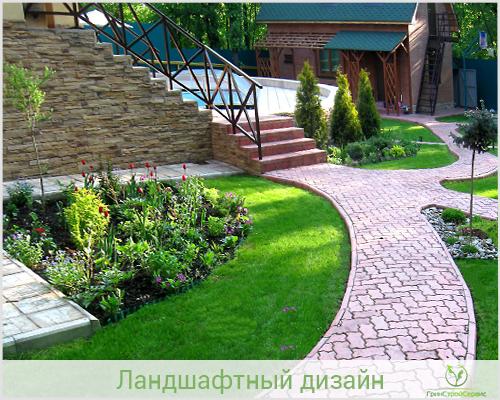 Ландшафтный дизайн загородного дома цена