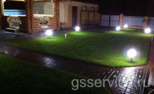 Ландшафтный дизайн двора в частном доме
