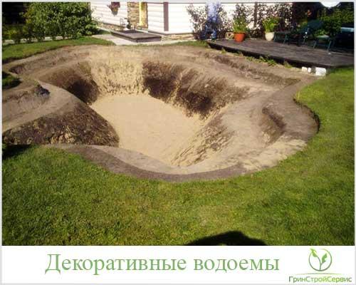Искусственный водоем на участке