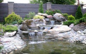 Устройство декоративных водоемов