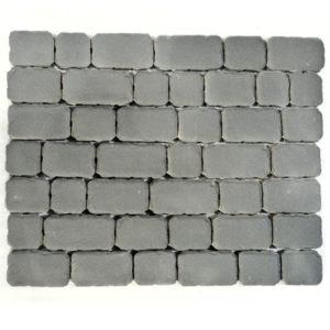 Тротуарная плитка Ривьера, Серый, h=60 мм