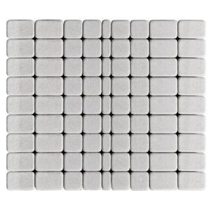 Тротуарная плитка Классико, Серебристый, h=60 мм