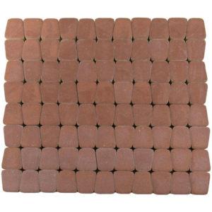 Тротуарная плитка Классико круговая, Винный, h=60 мм