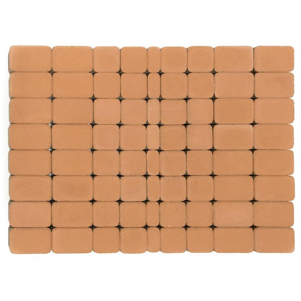 Тротуарная плитка Классико, Коралловый, h=60 мм