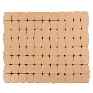 Тротуарная плитка Классико круговая, Коралловый, h=60 мм
