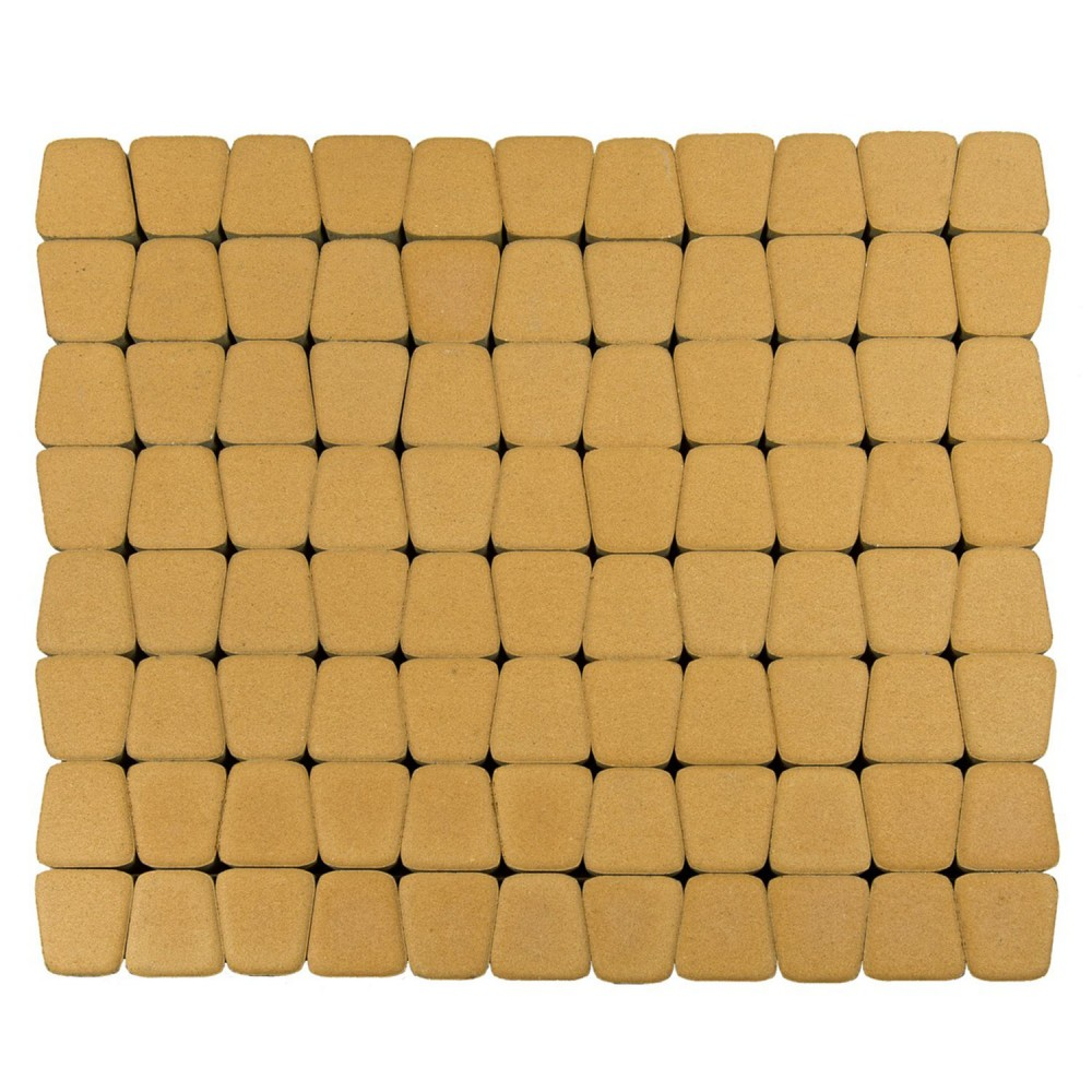 Тротуарная плитка Классико круговая, Медовый, h=60 мм
