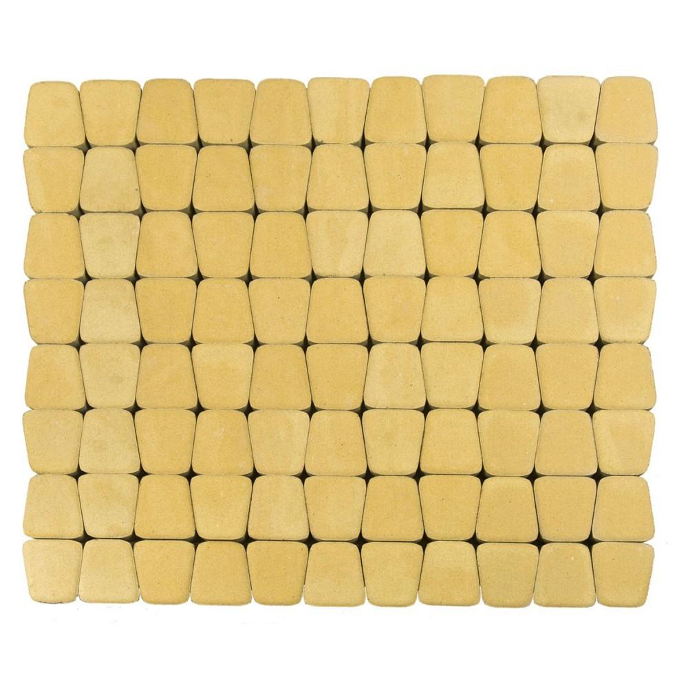 Тротуарная плитка Классико круговая Песочный h=60 мм