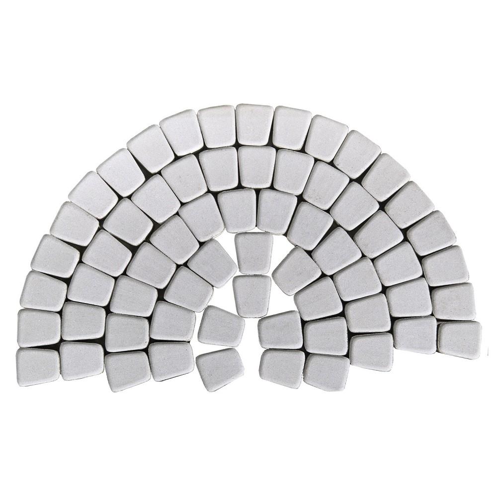 Тротуарная плитка Классико круговая, Серебристый, h=60 мм