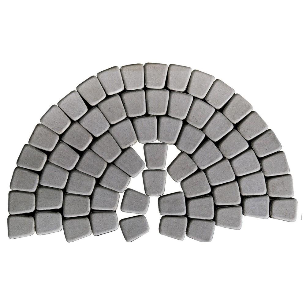 Тротуарная плитка Классико круговая, Серый, h=60 мм