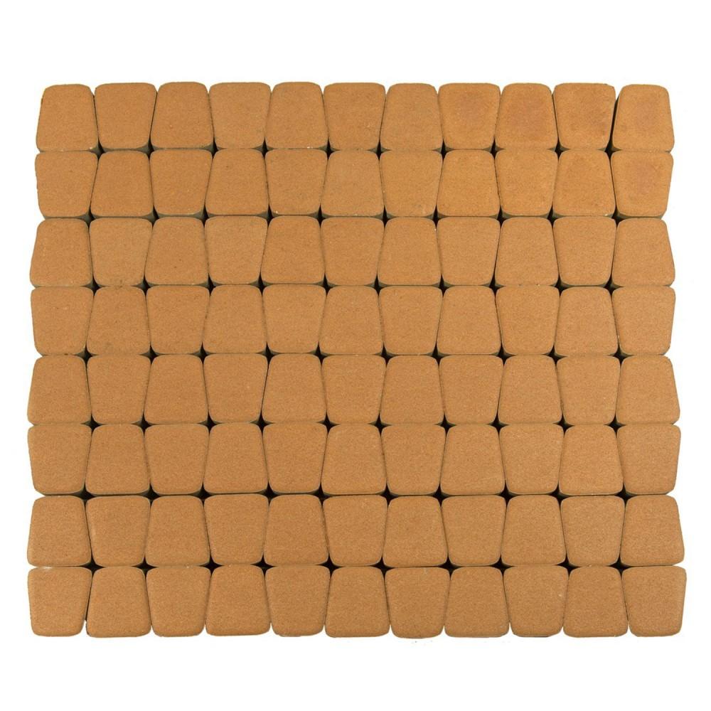 Тротуарная плитка Классико круговая, Янтарный, h=60 мм