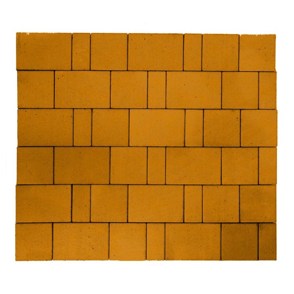"""Тротуарная плитка Старый город """"Ландхаус"""", Оранжевый, h=60 мм"""