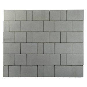 "Тротуарная плитка Старый город ""Ландхаус"", Серый, h=80 мм"