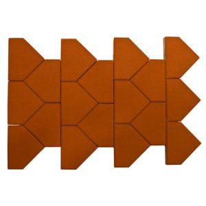 Тротуарная плитка Тиара, красный, h=60 мм