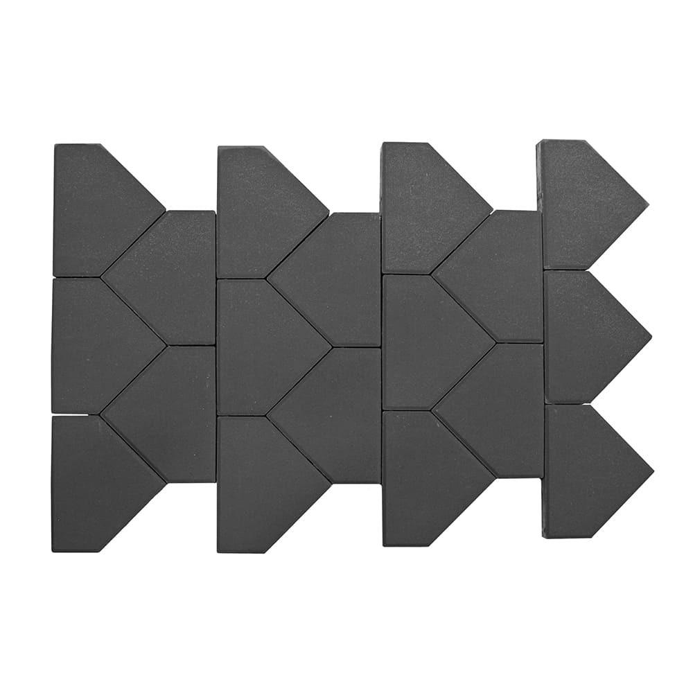 Тротуарная плитка Тиара, серый, h=60 мм