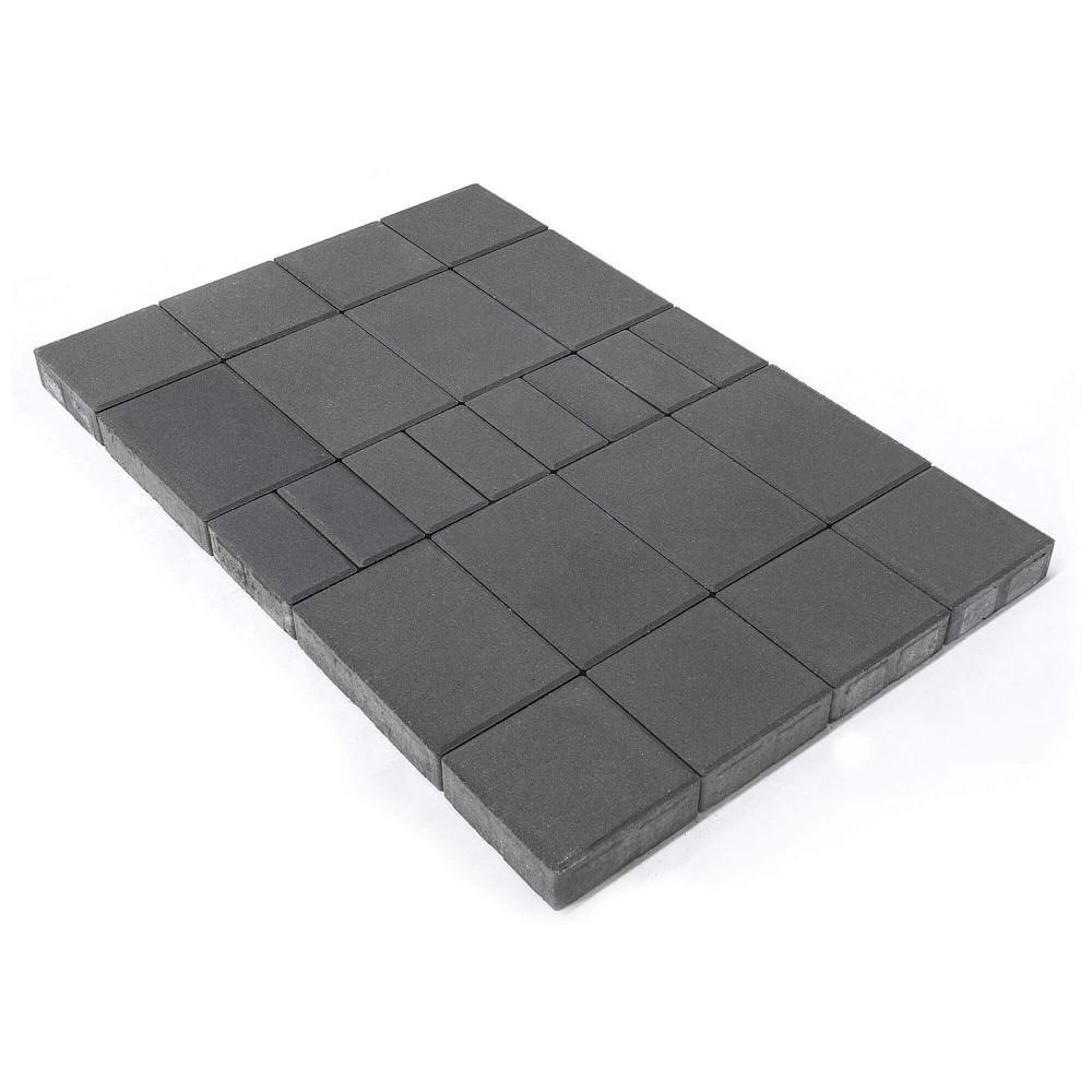 Тротуарная плитка Мозайка, Серый, h=60 мм