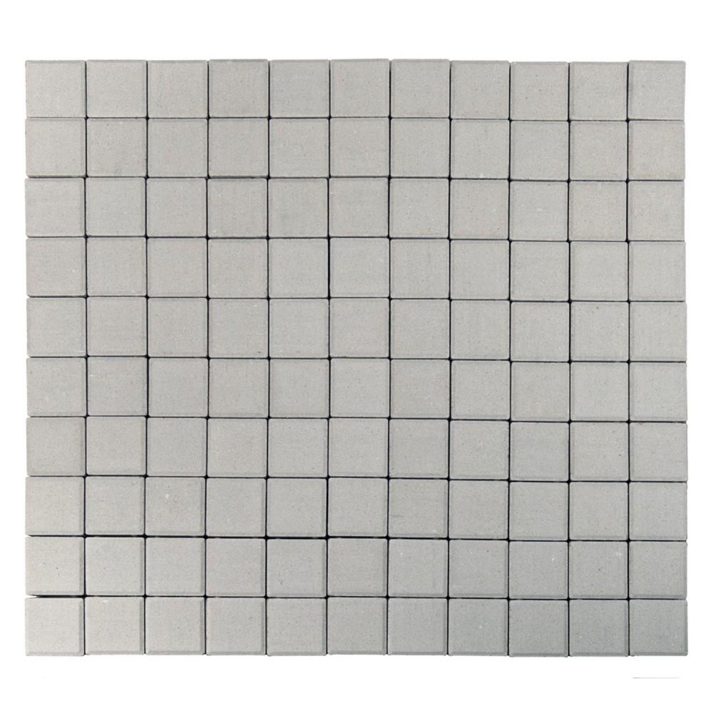 Тротуарная плитка Лувр, Белый, h=60 мм, 100х100