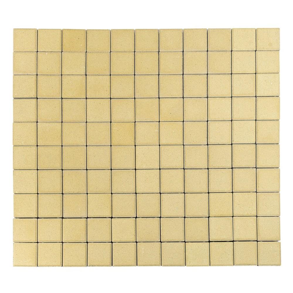 Тротуарная плитка Лувр, Песочный, h=60 мм, 100х100