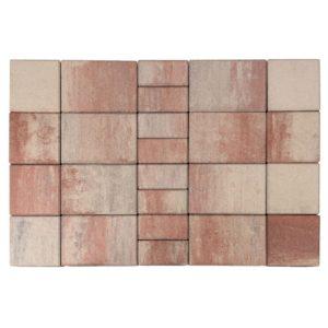 "Тротуарная плитка Мозайка, Color Mix ""Фламинго"", h=60 мм"